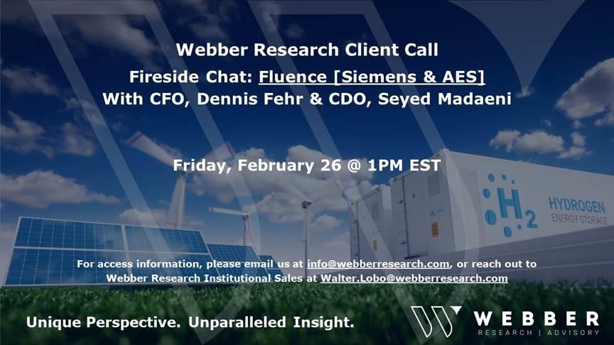 Fireside Chat 02.26.21 – Fluence (Siemens & AES) CFO & CDO