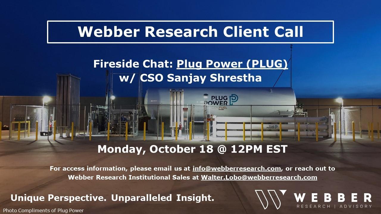 Webber Research: H2 Tracker & PLUG Fireside Chat Q&A Takeaways